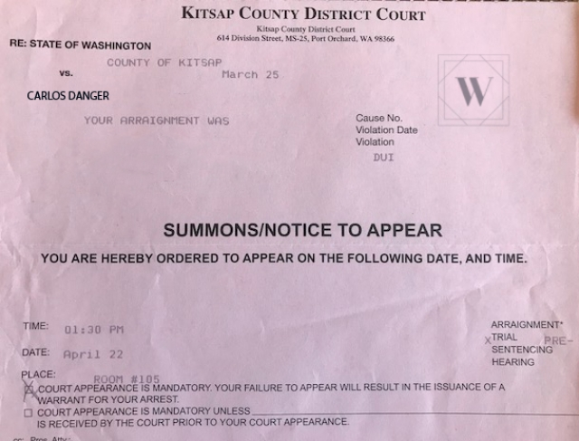 I Received A Summons For A Criminal Charge  Now What?
