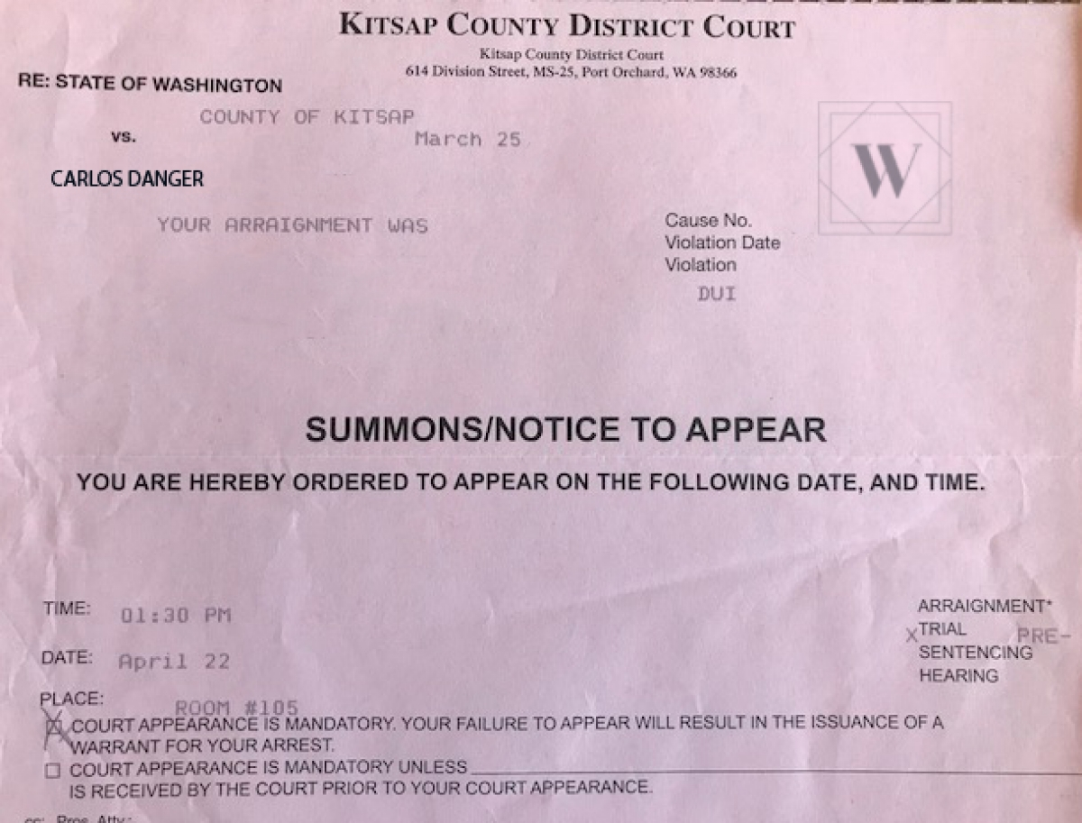 Kitsap County District Court Summons