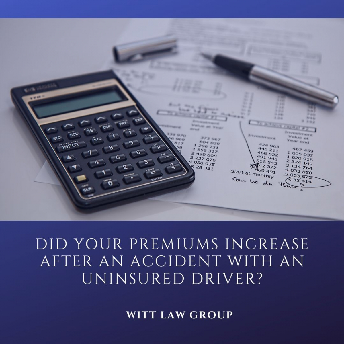 Insurance Premiums and Auto Accident