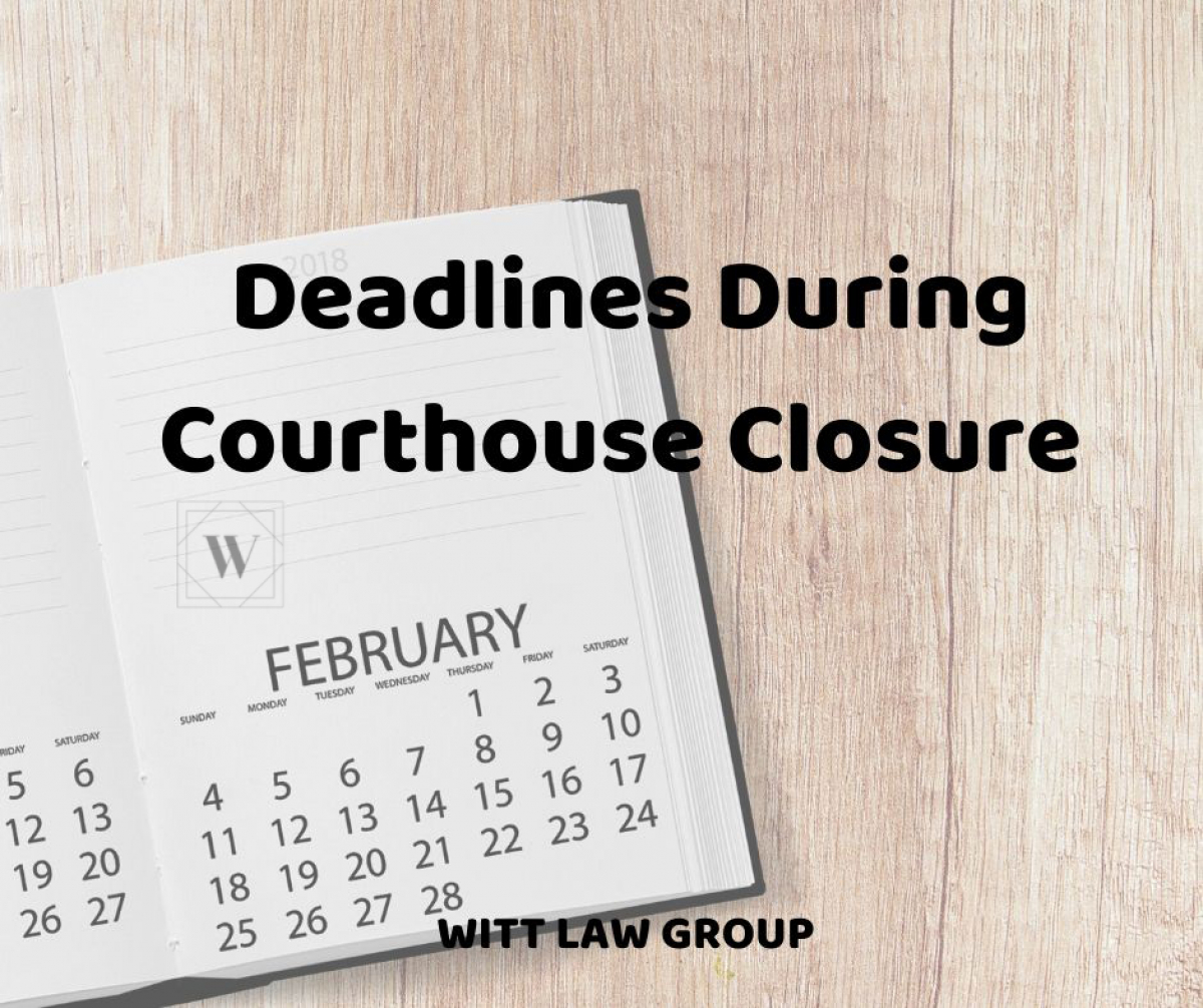 Kitsap Courts - Deadlines During Courthouse Closures