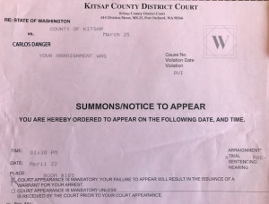 Summons for a DUI