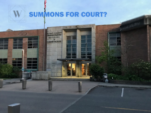 Summons for Court in Kitsap County?